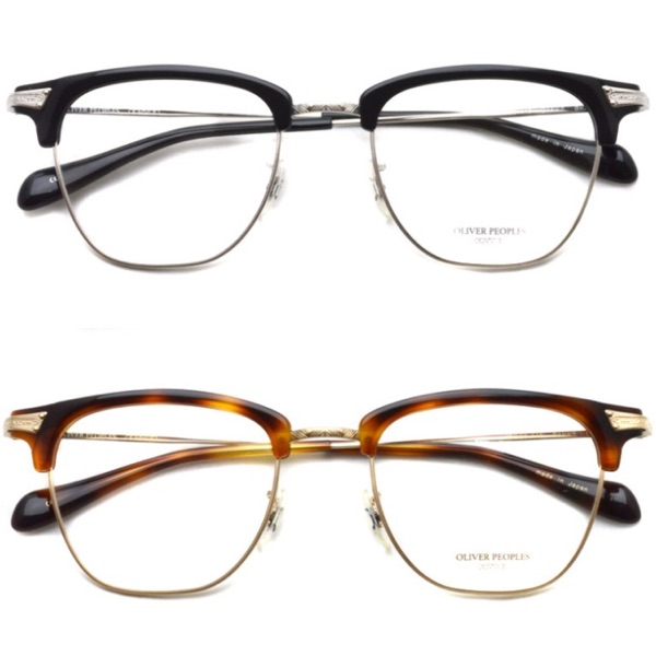 7385c255ad4 Oliver peoples Banks lightweight semi-rimless glasses frame β titanium used  made in Japan
