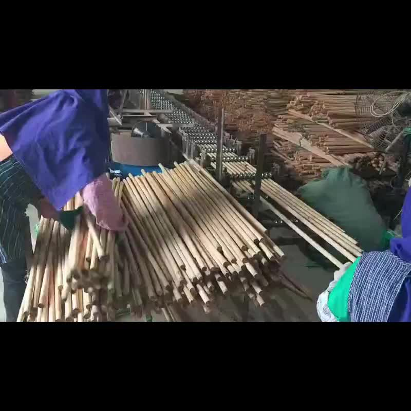 Dry natural broom handle wood factory in China