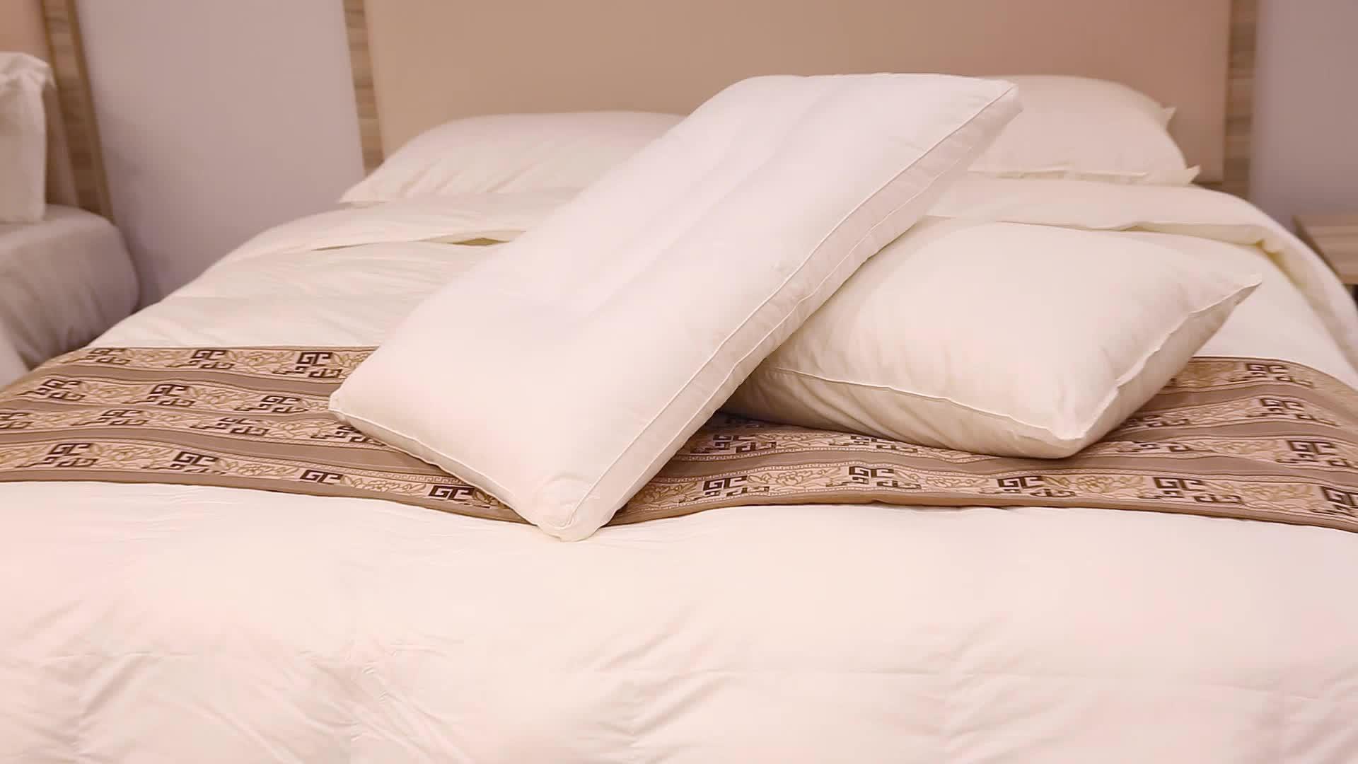 Wholesale Five star Hotel High Soft cheap decoration square plain cushion pillow