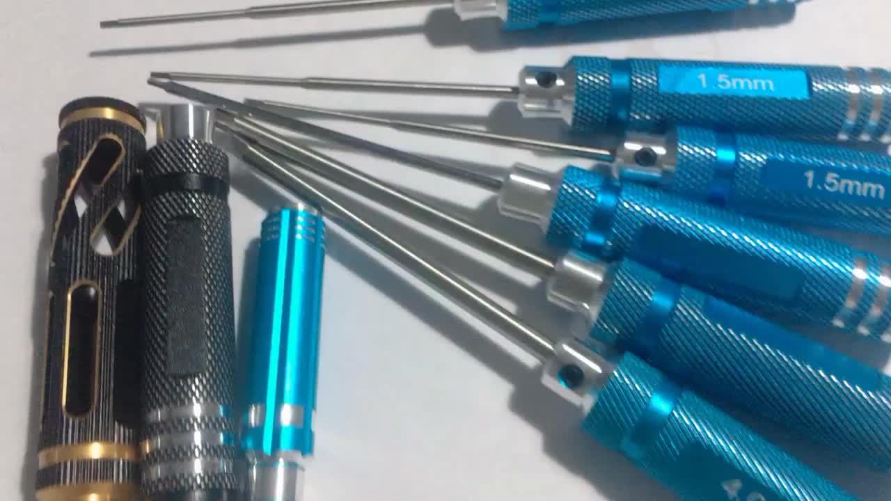 1.5mm 2.0mm 2.5mm 3.0mm hex screwdriver bits set for RC car
