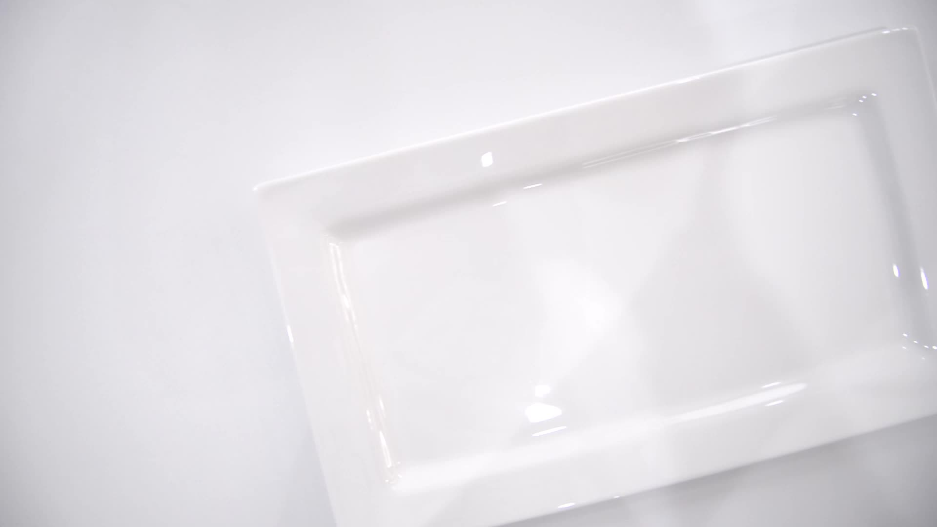 P&T Royal Ware porcelain rectangular plates white porcelain food plates for buffet