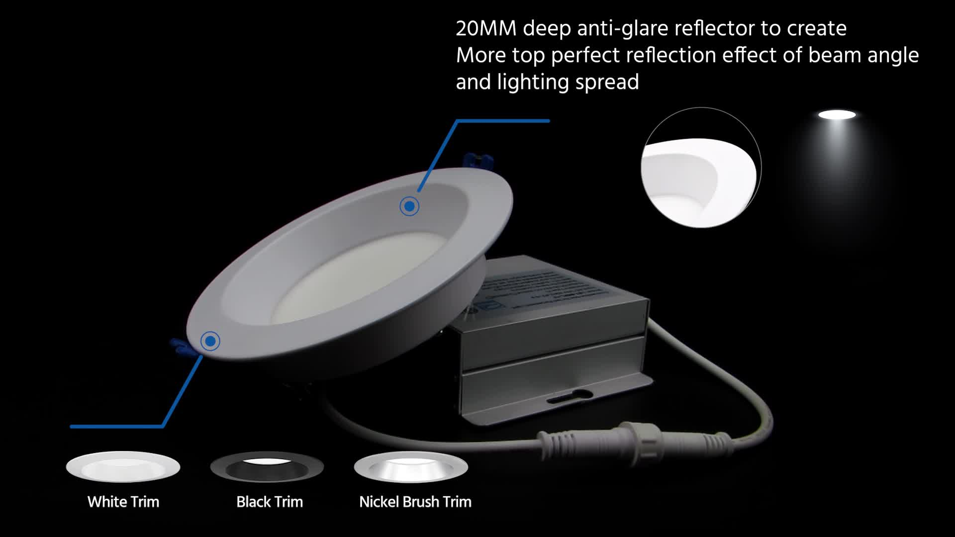 3 warranty dimmable anti glare Indoor IP54 low recessed led spot light
