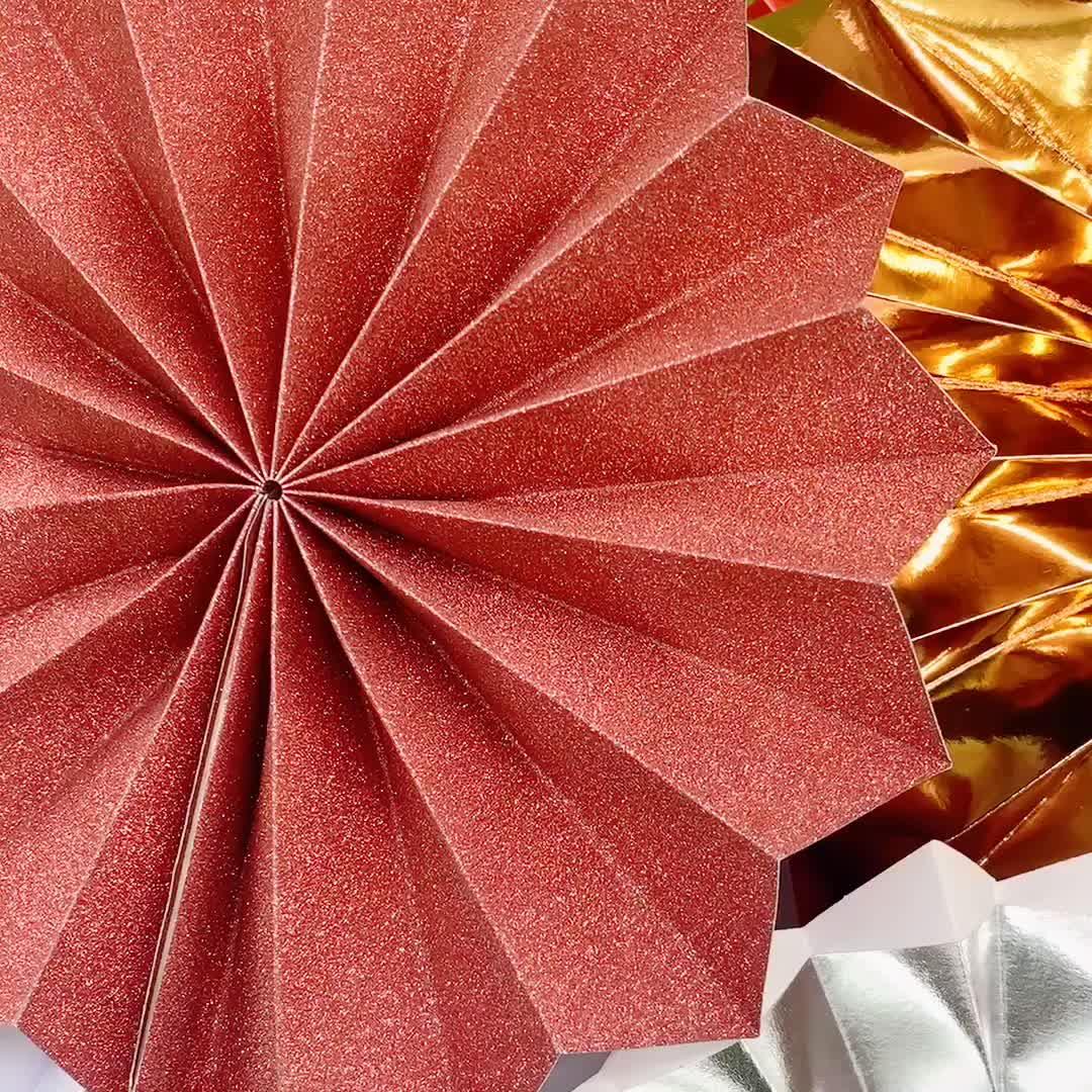 Pieghevole ventaglio di carta biodegradabile partito piano artificiale ventilatore andare con matrimonio indiano