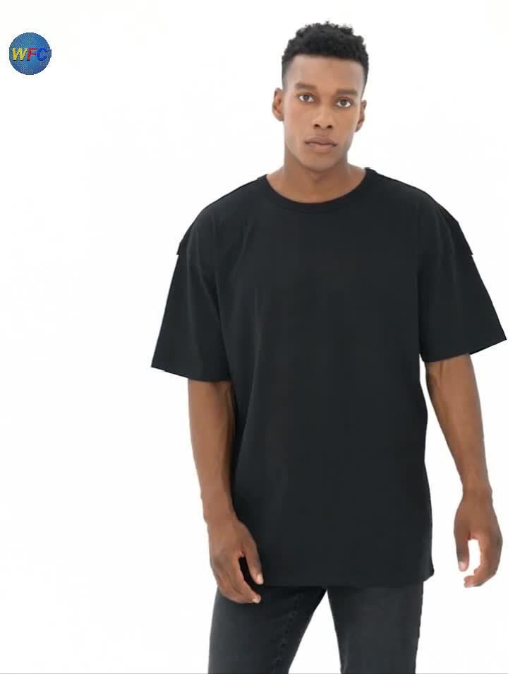 Mens Cair Ombro Tshirt Feito Sob Encomenda Impressão Tee De Grandes Dimensões Caiu Ombro Crewneck Camiseta