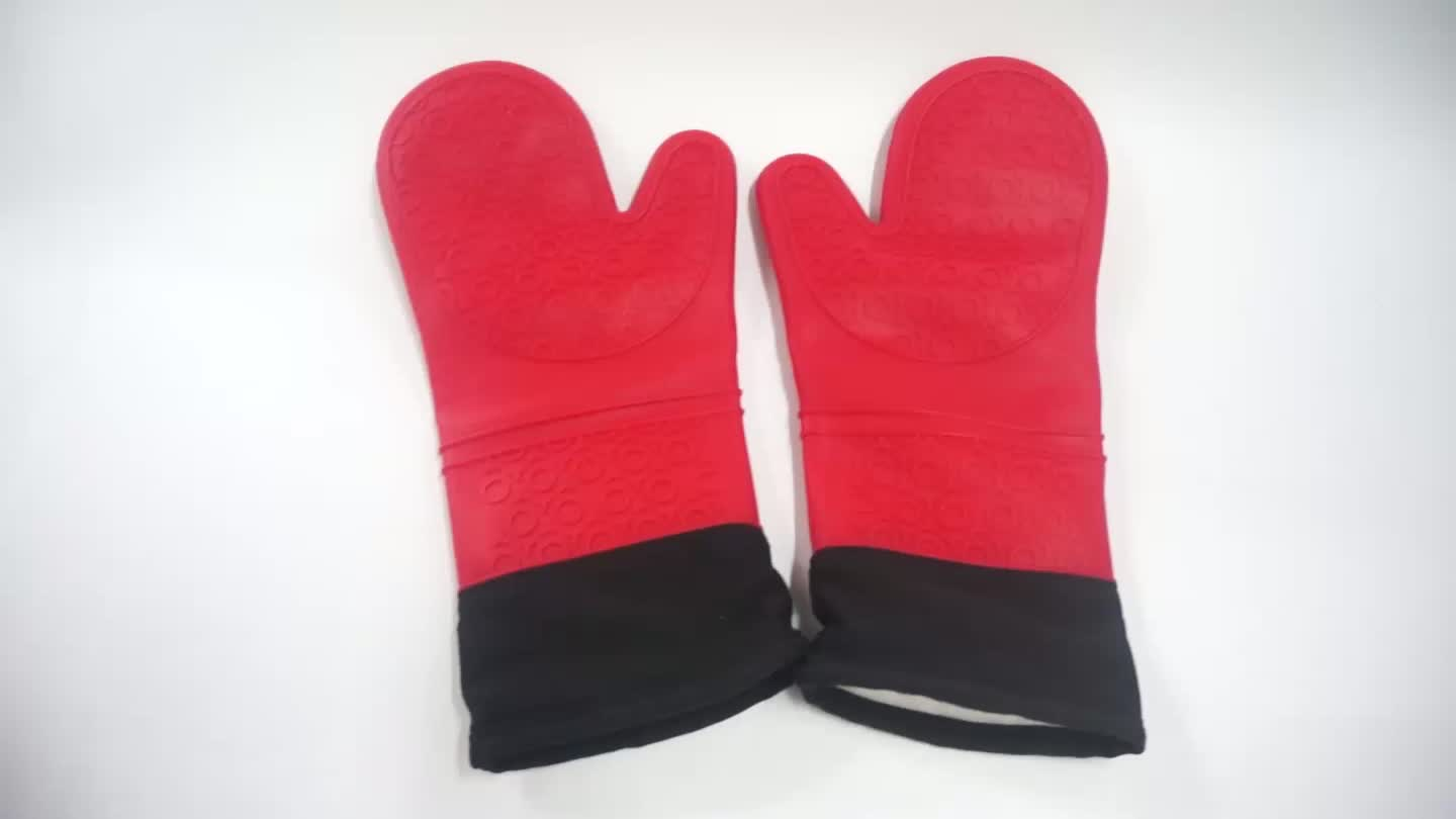 Silicone Extra Long Kitchen Oven Mitt with Handle