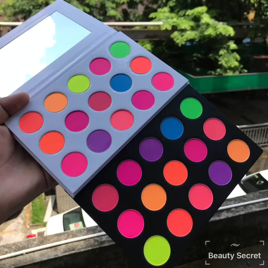 Étiquette privée Maquillage Maquillage Cosmétique Fard À Paupières Imperméable À L'eau De Haute Qualité Ombre À Paupières Palette