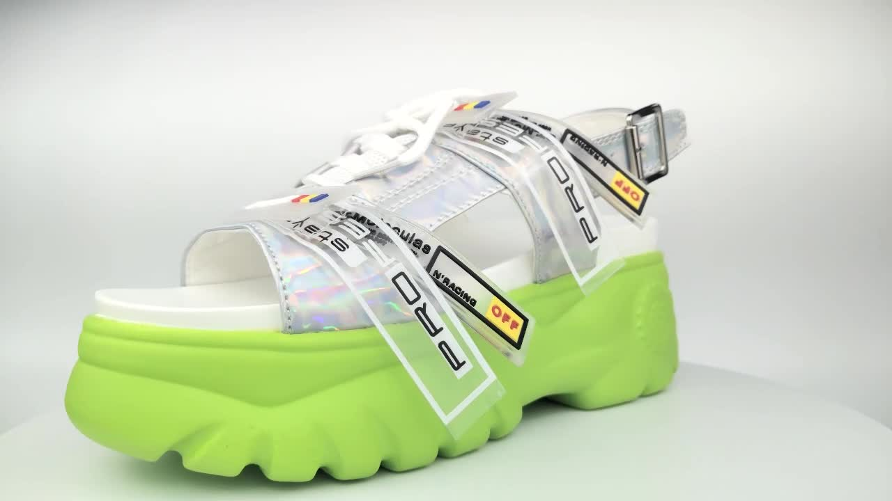 Wonderful top quality street style cool wholesale ladies platform sports sandals with cheap price