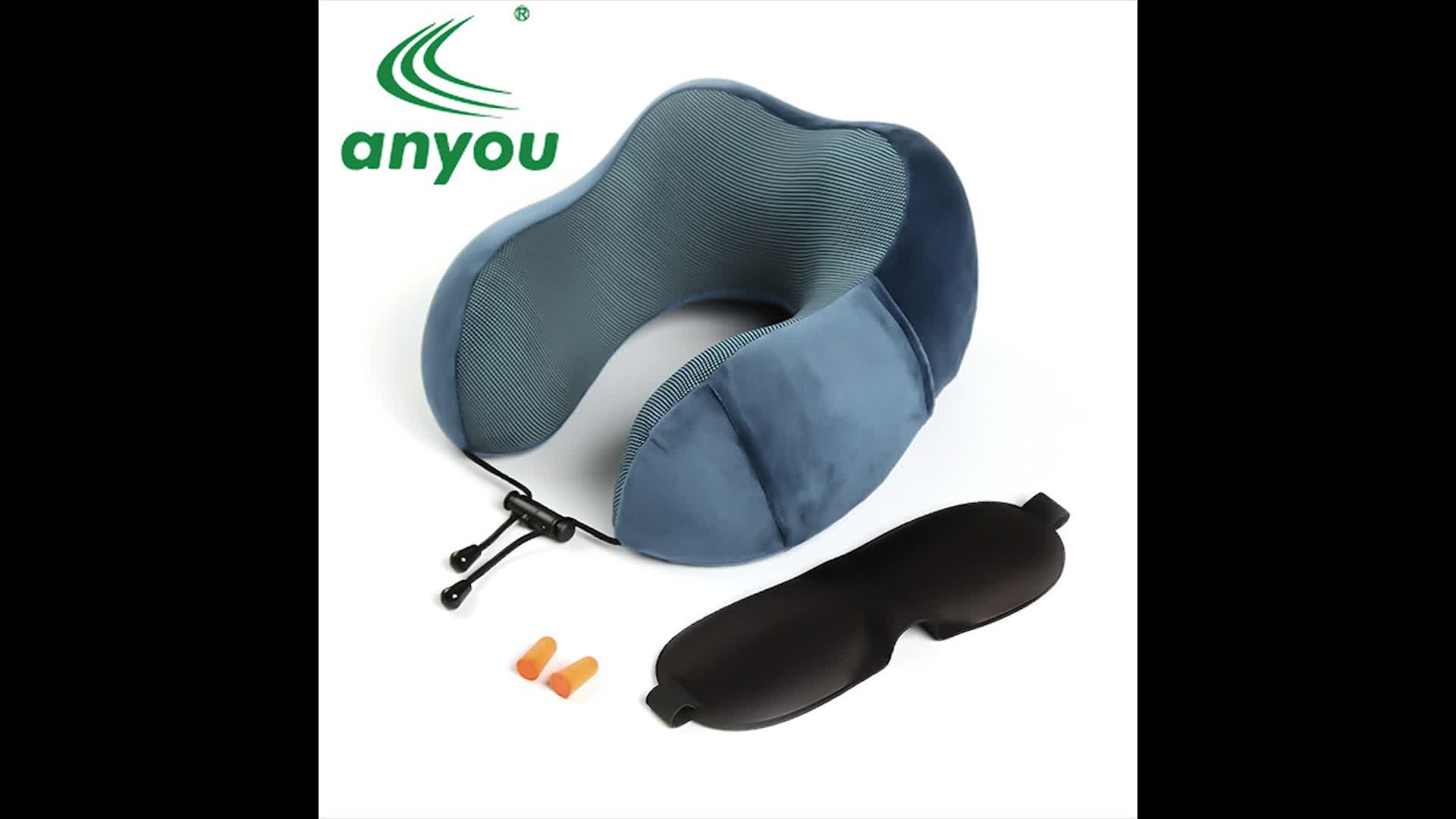 Wholesale Amazon Golden Supplier Memory Foam car Airplane Neck support pillow Travel Neck Pillow