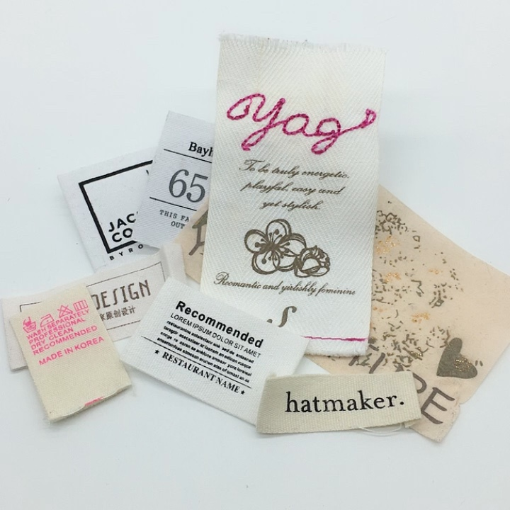 Cheap Custom Brand Name Logo Printed Label For Clothing