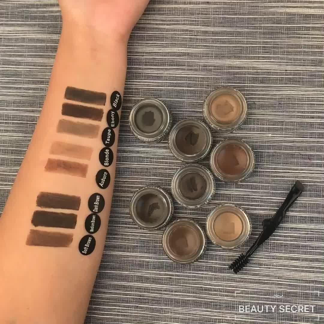Professional makeup brow pomade cream No logo 8 single color eyebrow Gel powder