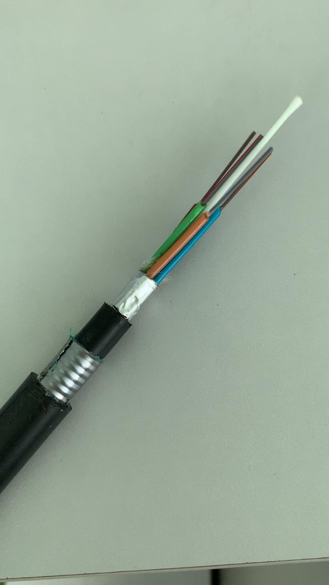 Custom GYFTS53/GYFTA53 Outdoor G.652.D Outdoor OFC GYFTS/GYFTA G.652.D Stranded Loose Multi-Tube Fibre Optical Cable