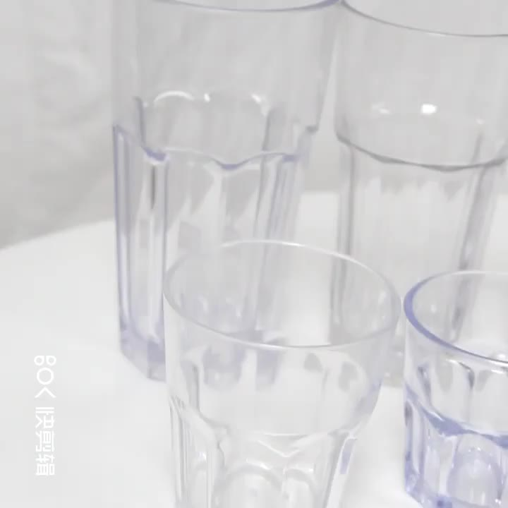 Unbreakable Reusable Polycarbonate plastic whiskey glass
