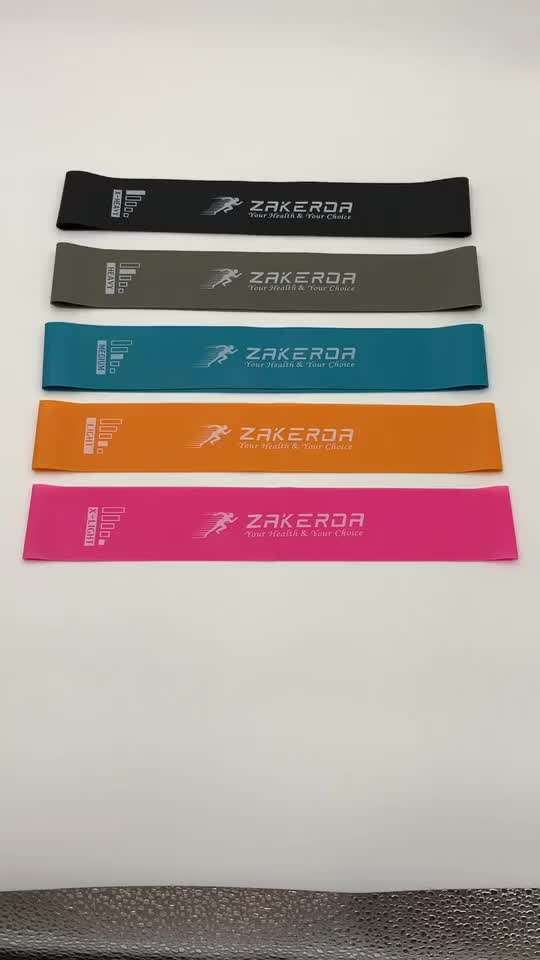 Zakerda Hot Selling Resistance Bands, Weerstand Oefening Bands voor Fitness, Stretching, Krachttraining, Fysiotherapie