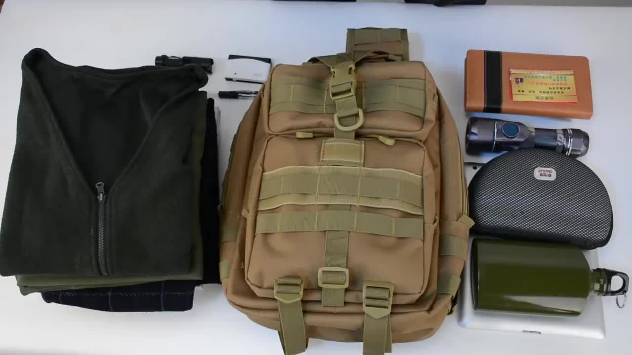 Custom wholesale Assault  Small Tactical Sling Backpack  with Flag 15L Manufacturer