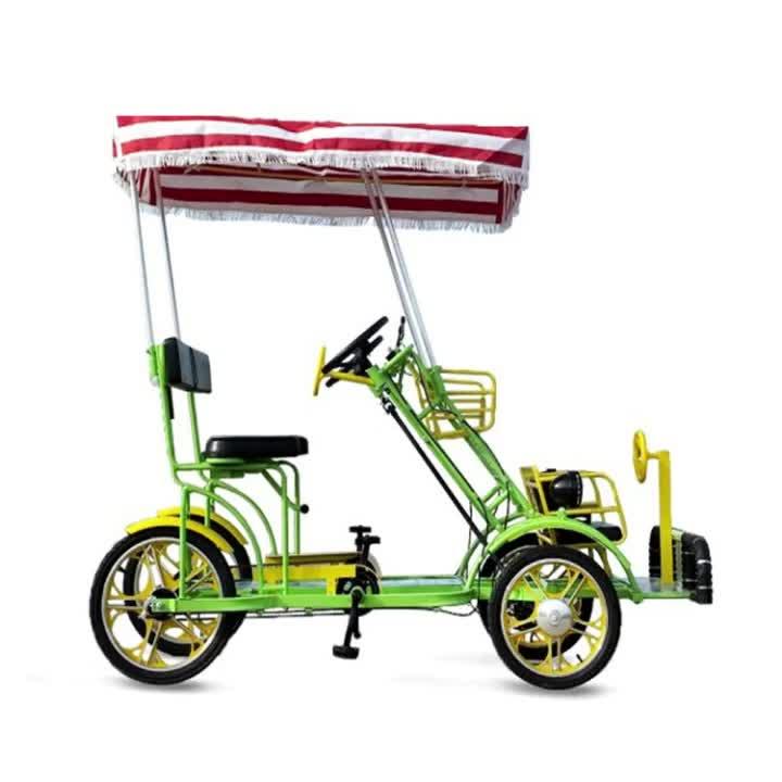 Thời Trang Nhất 4 Bánh Xe Dành Cho Người Lớn Bike TANDEM Đạp Xe Đạp Để Bán/Song Song Xe Đạp Với Chất Béo Lốp/Được Sử Dụng Giá Rẻ Surrey xe Đạp Cho Cặp Vợ Chồng