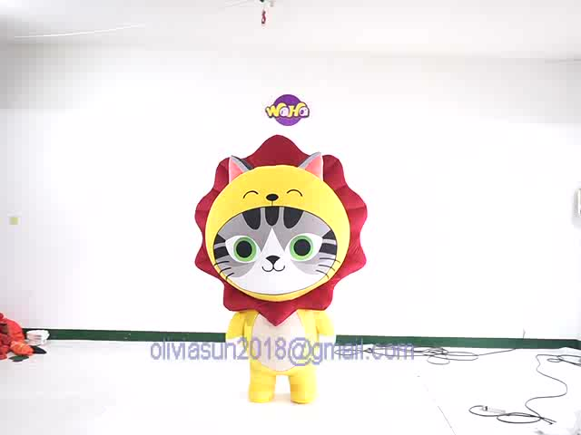customized Inflatable balloon plush activity cartoon man wearing walking doll costume inflatable mascot suit Events Parade decor