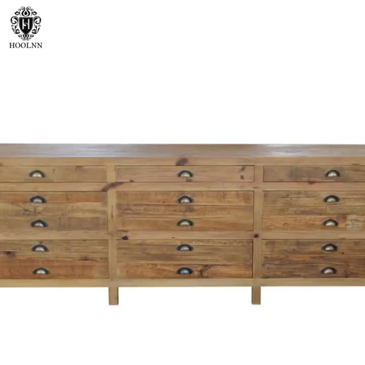 French stylish reclaimed Wood TV stand HL369