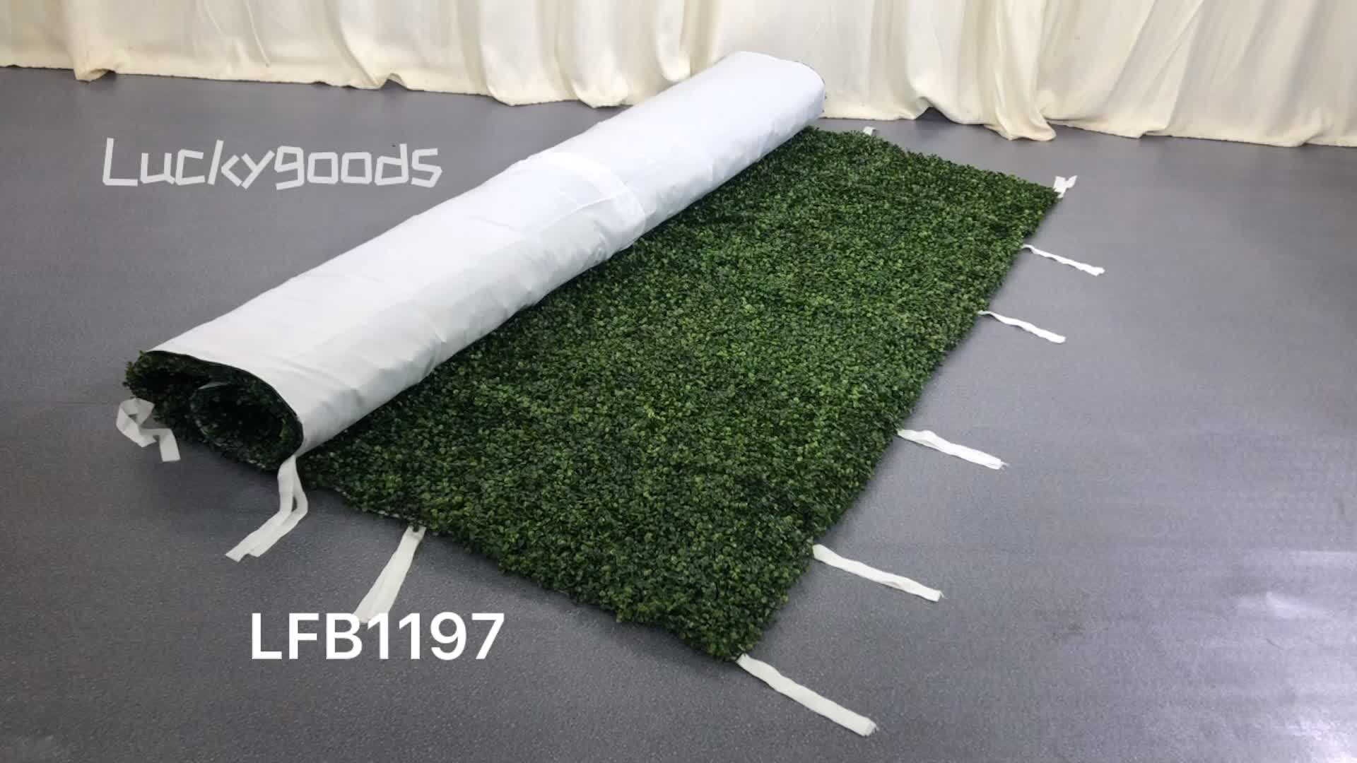 LFB1273 Handmade Christmas decoration roll up green wall  grass backdrops for sale
