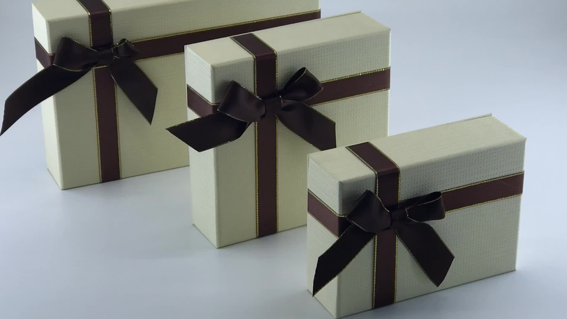 luxury  handmade box  with 6 pcs/9 pcs/15 pcs Ribbon for chocolate/candy/pastry   packaging boxes