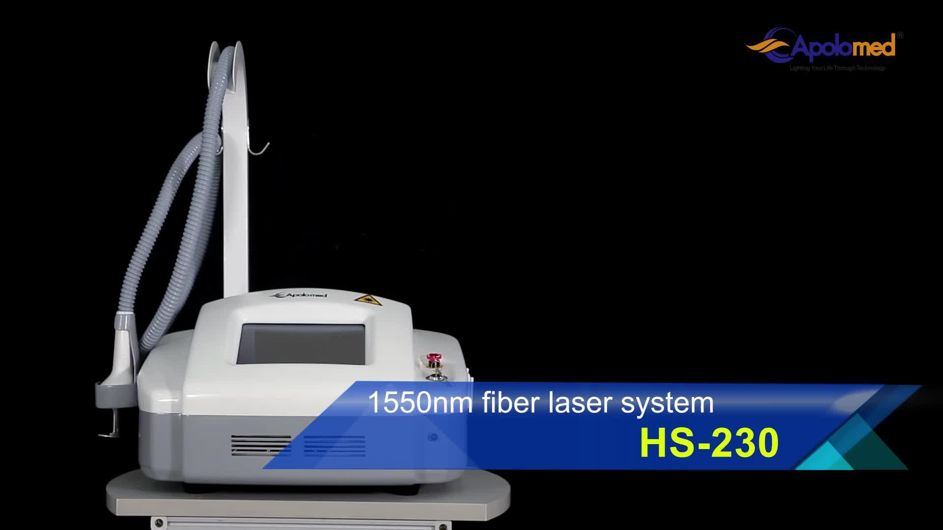 1550nm erbium fiber fractional laser beauty machine for skin rejuvenation