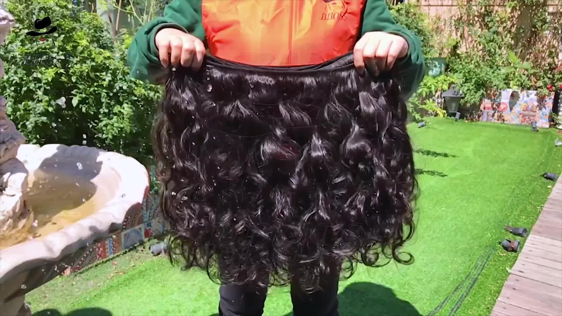 Высокое качество длинный кусок волос индийский храм волосы, кутикулы выровнены волос из индии, 100% натуральный человеческих волос прайс-лист