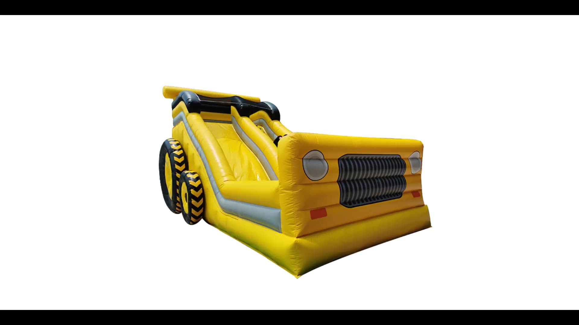New design yellow Inflatable digger slide / inflatable excavator slide