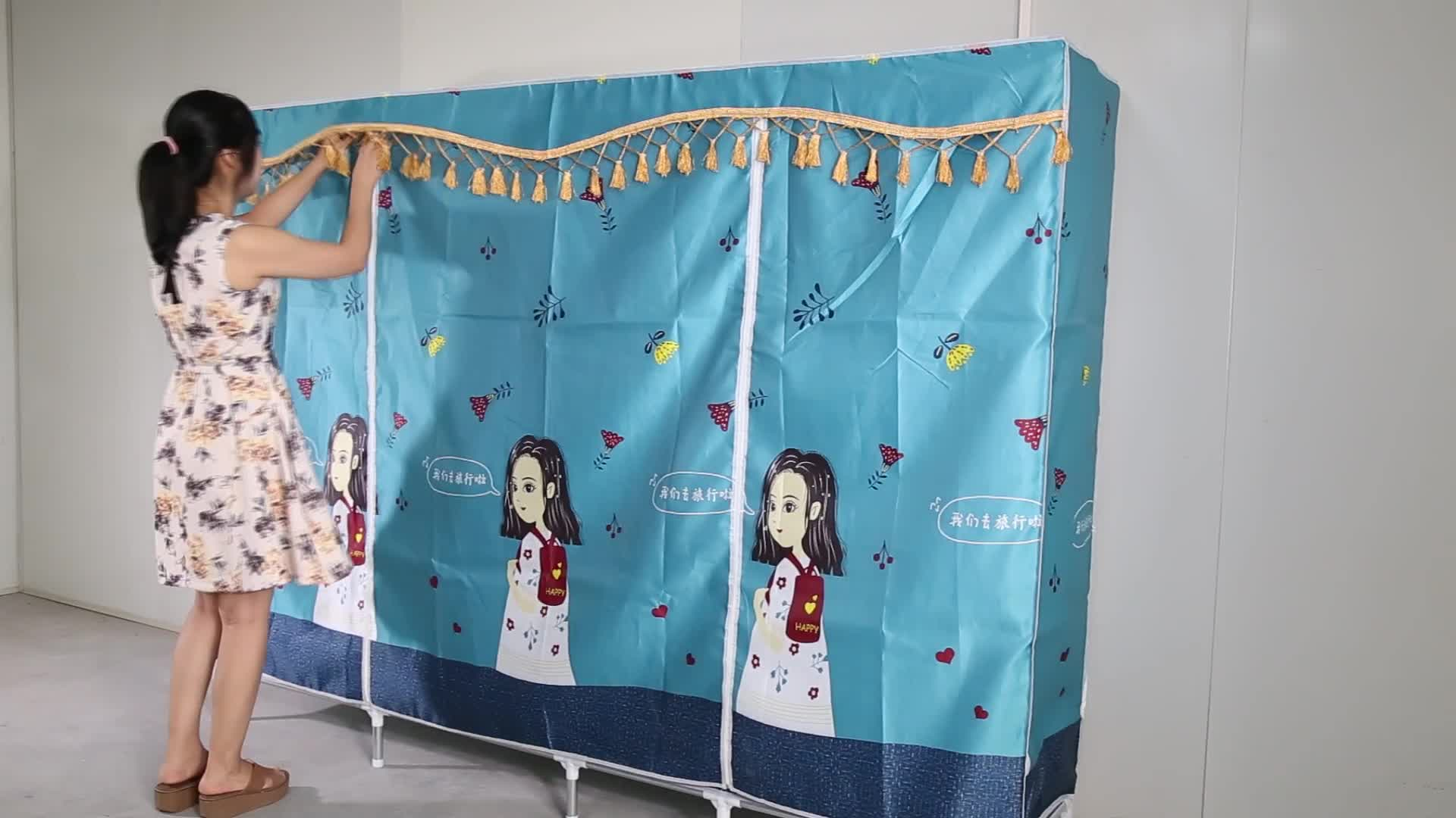 New Large Size Fabric Cloth Wardrobe For Bedroom Clothes 230CM 25230