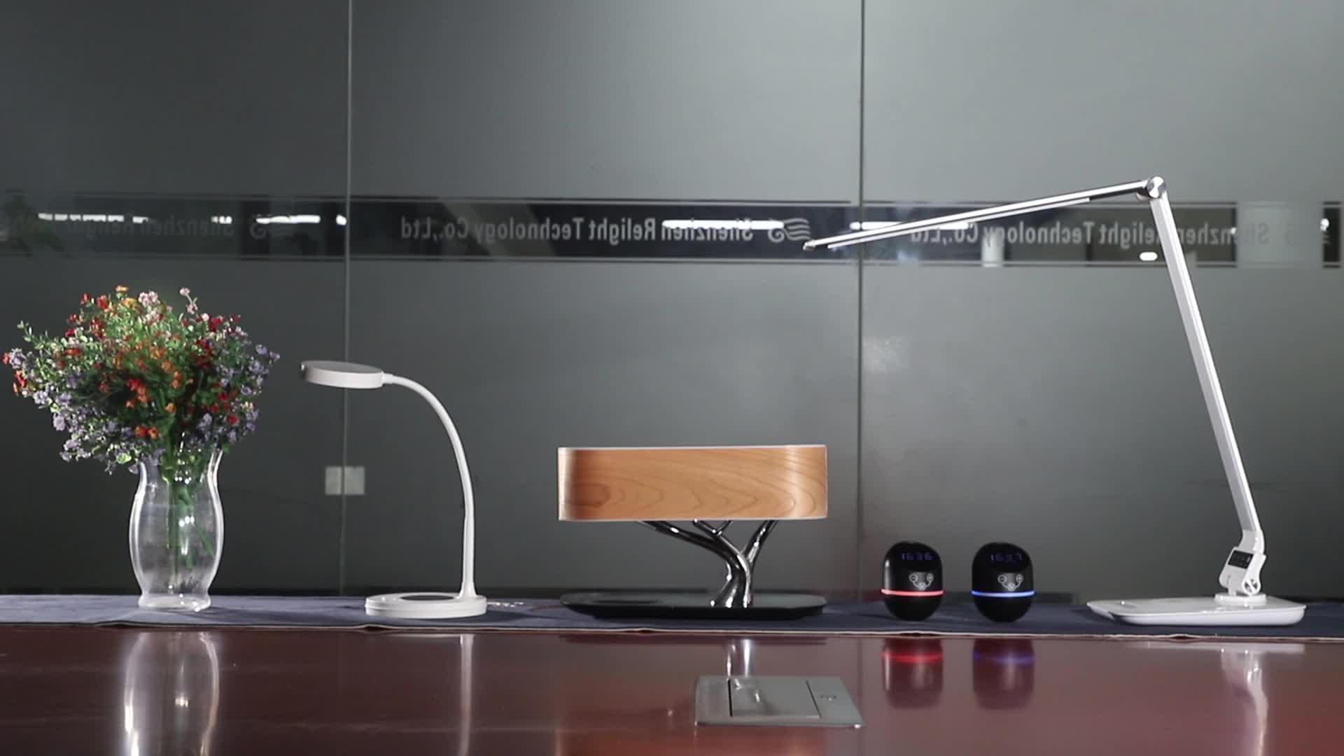 MESUN Sıcak Satış Ağaç masa lambası kablosuz şarj cihazı ve bluetooth hoparlör için iyi otel, Ev kullanımı