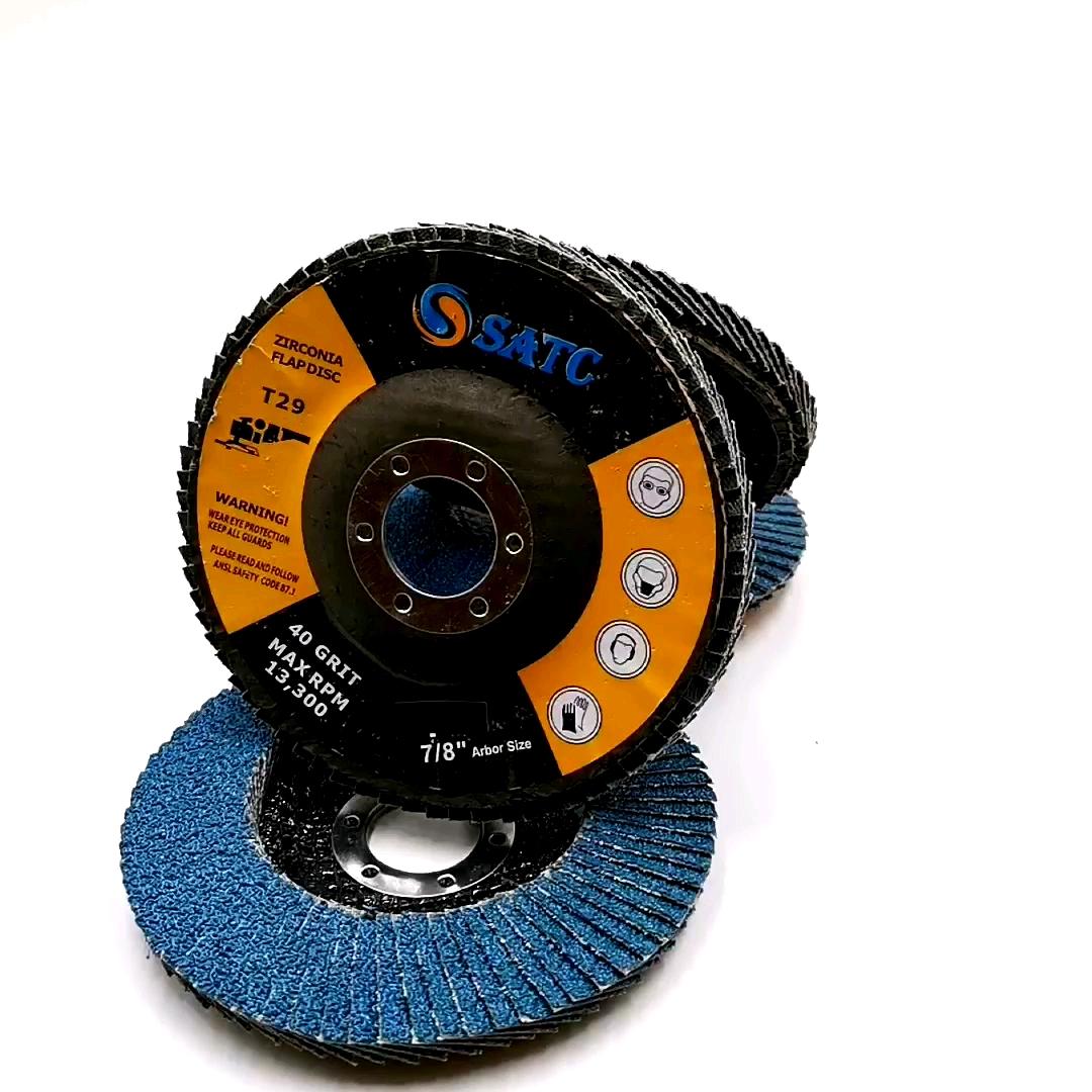 SATC Trasporto Veloce 115 millimetri Flap disco da 4.5 pollici Abrasivo Zirconia Mola per Metallo e Acciaio Inox 60 grit