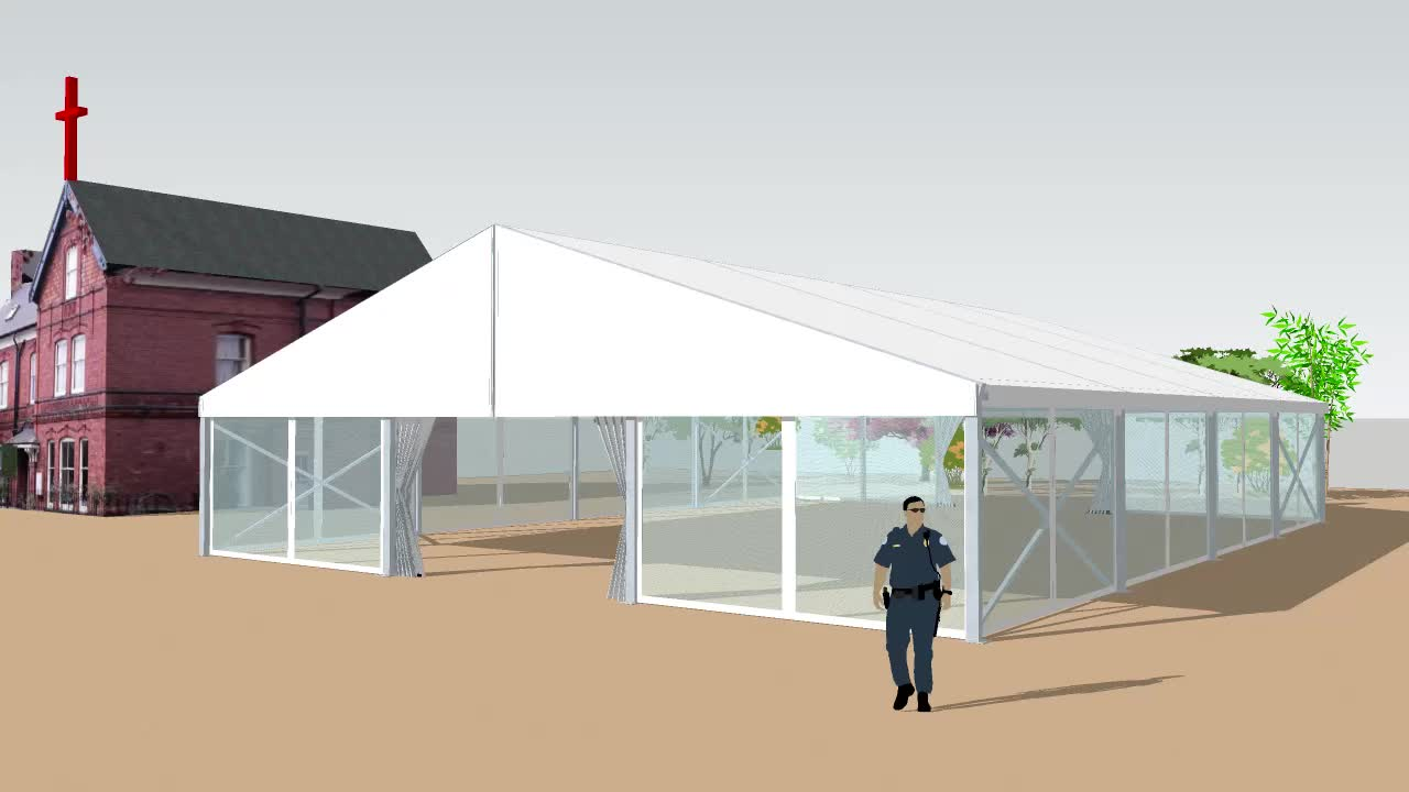 GSL-15 15x35m Large wedding party marquee tents for 500 people capacity in Nigeria