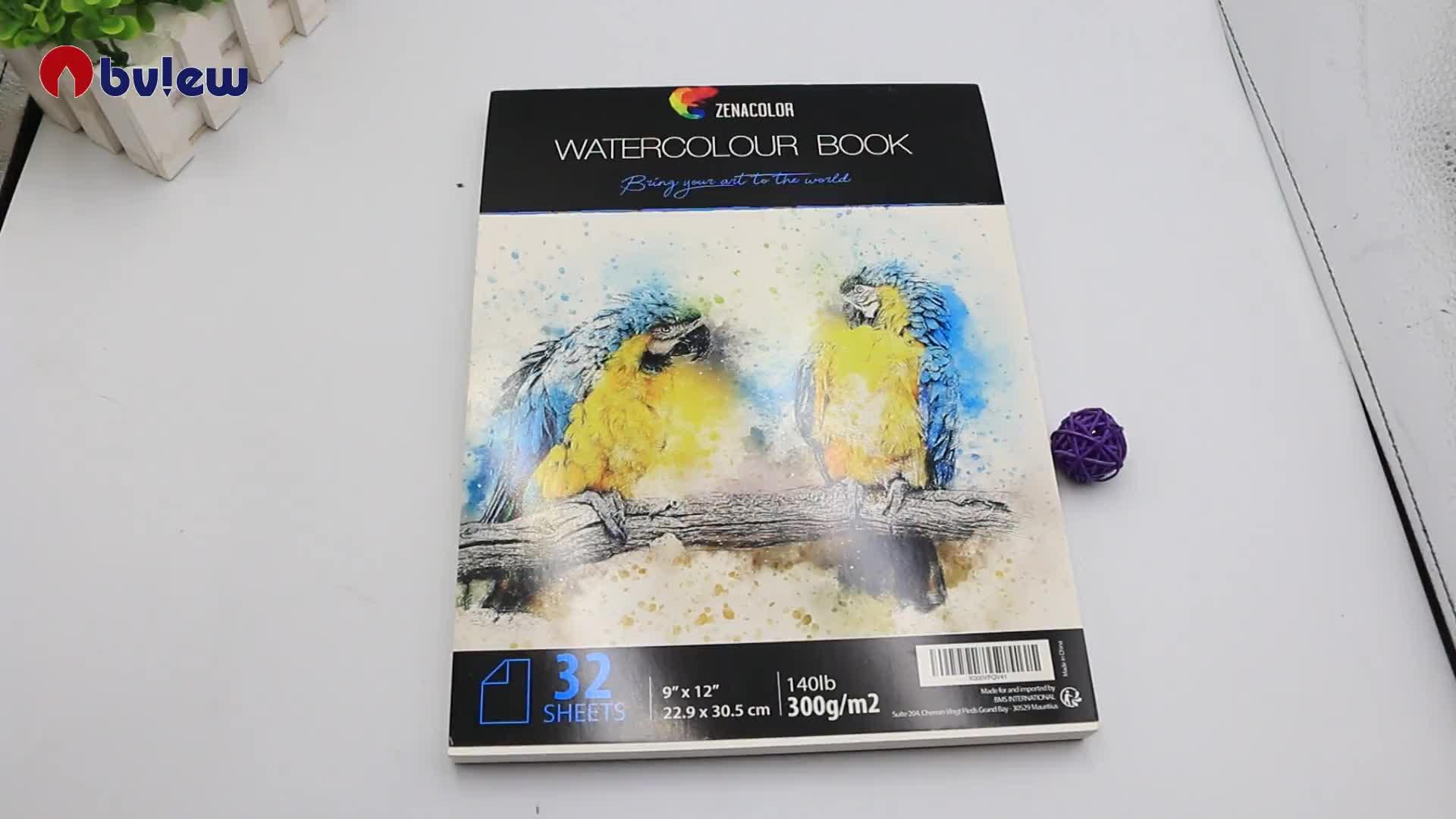 9*12 32 Lembar Kertas Bertekstur Artis Menggunakan Kertas Cat Air Pad