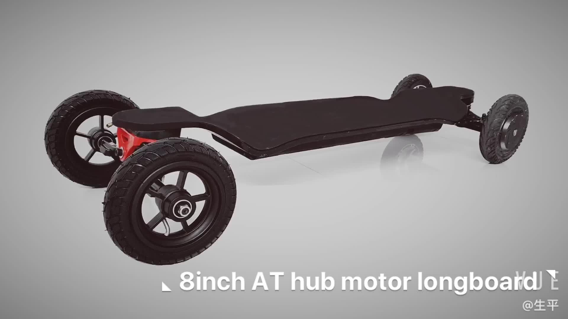 WINboard new arrival GTM CROSS 10S4P flexible battery 8 inch 1000w hub motorized  all terrain off road electric skateboard