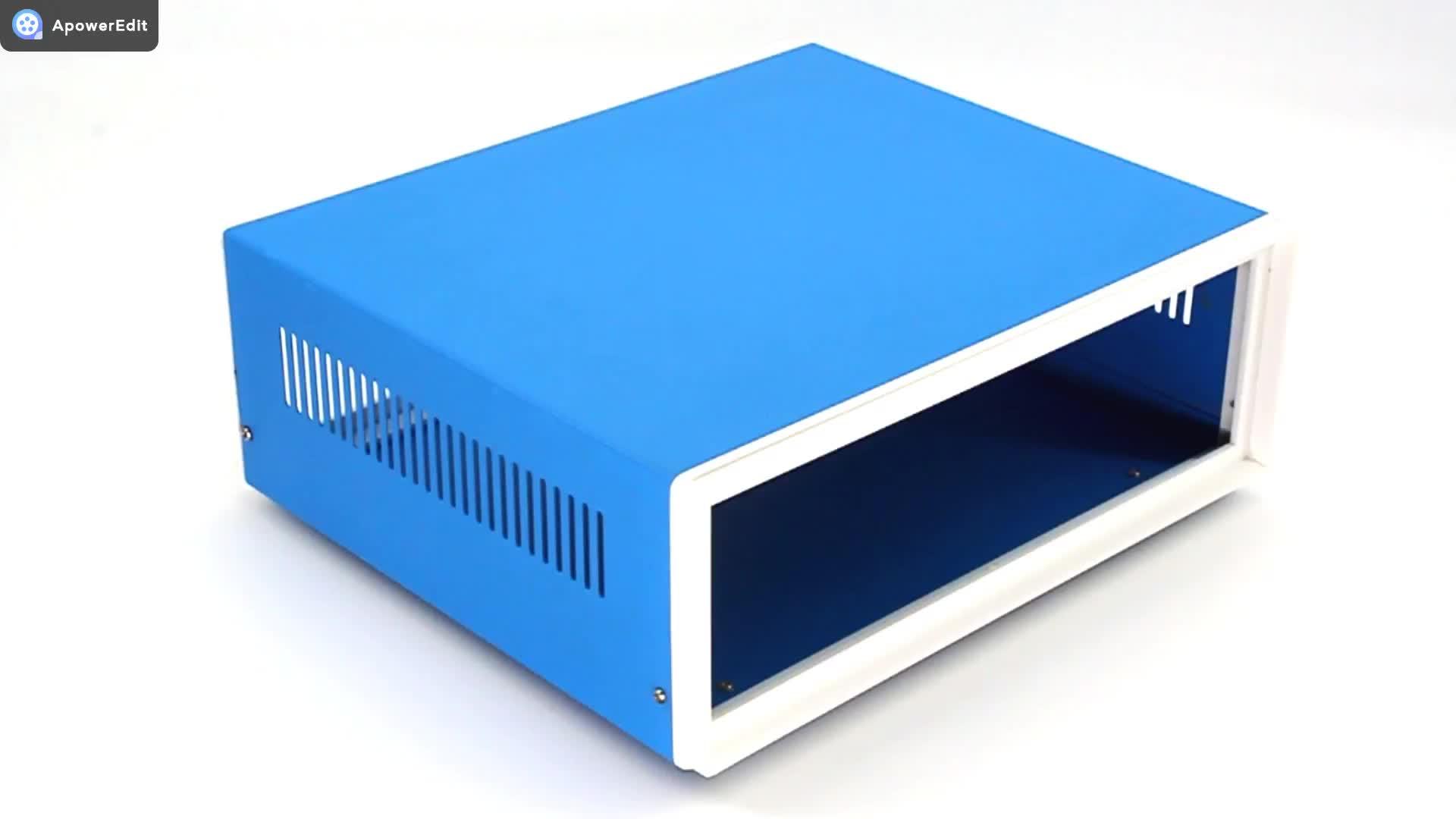 Özelleştirmek güç amplifikatörü şasi elektronik alüminyum muhafaza kutusu