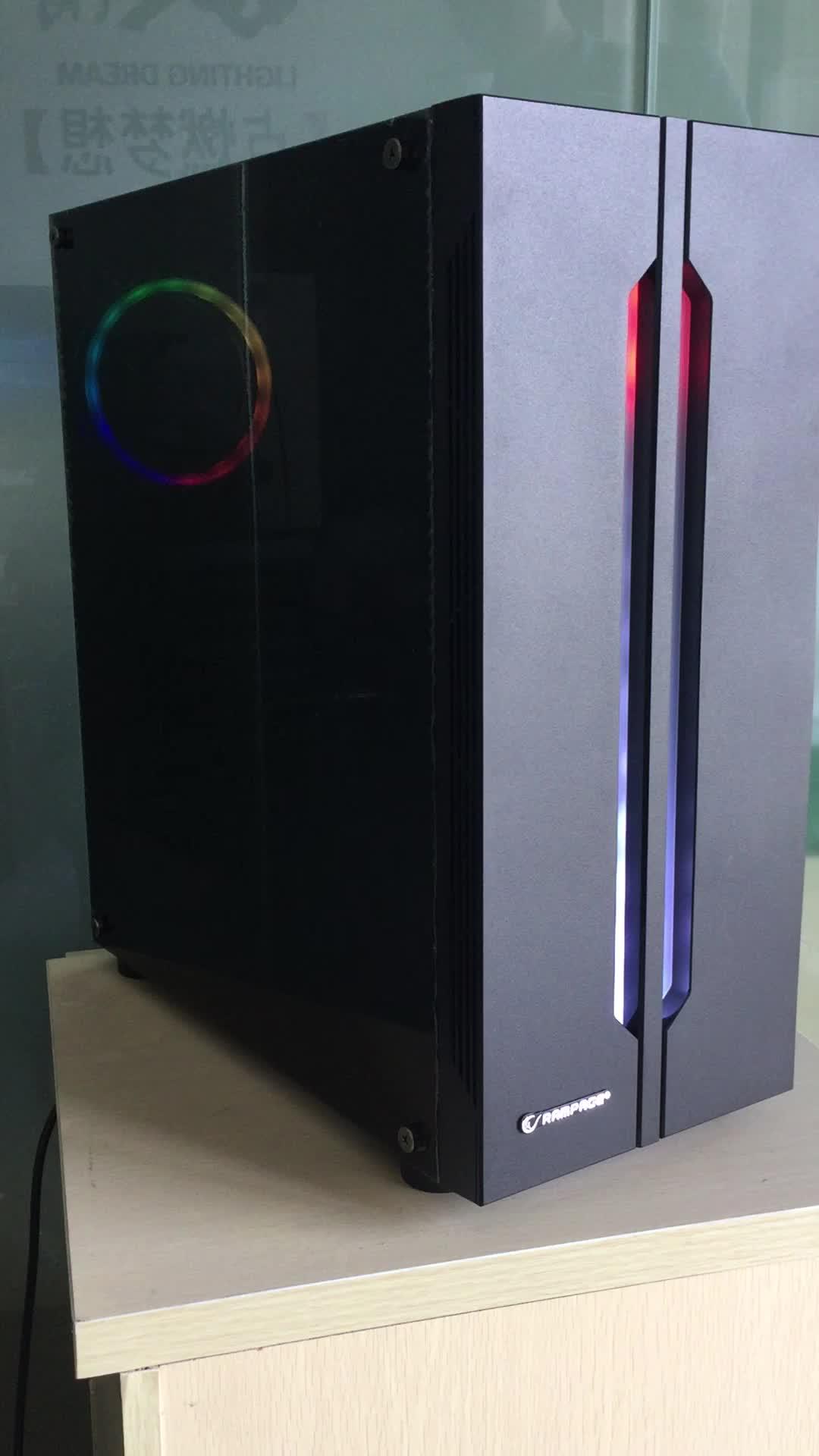 PC telaio di sostegno 120/240 millimetri di acqua di raffreddamento del radiatore con Sincrono ARGB Ventilatore e Striscia di Gioco case del computer