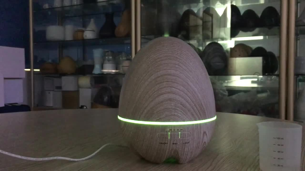 2019 Wood Essential Oil Diffuser 400ml Aroma Humidifier Ultrasonic Cool Mist for Home Office SPA Bedroom Q-07