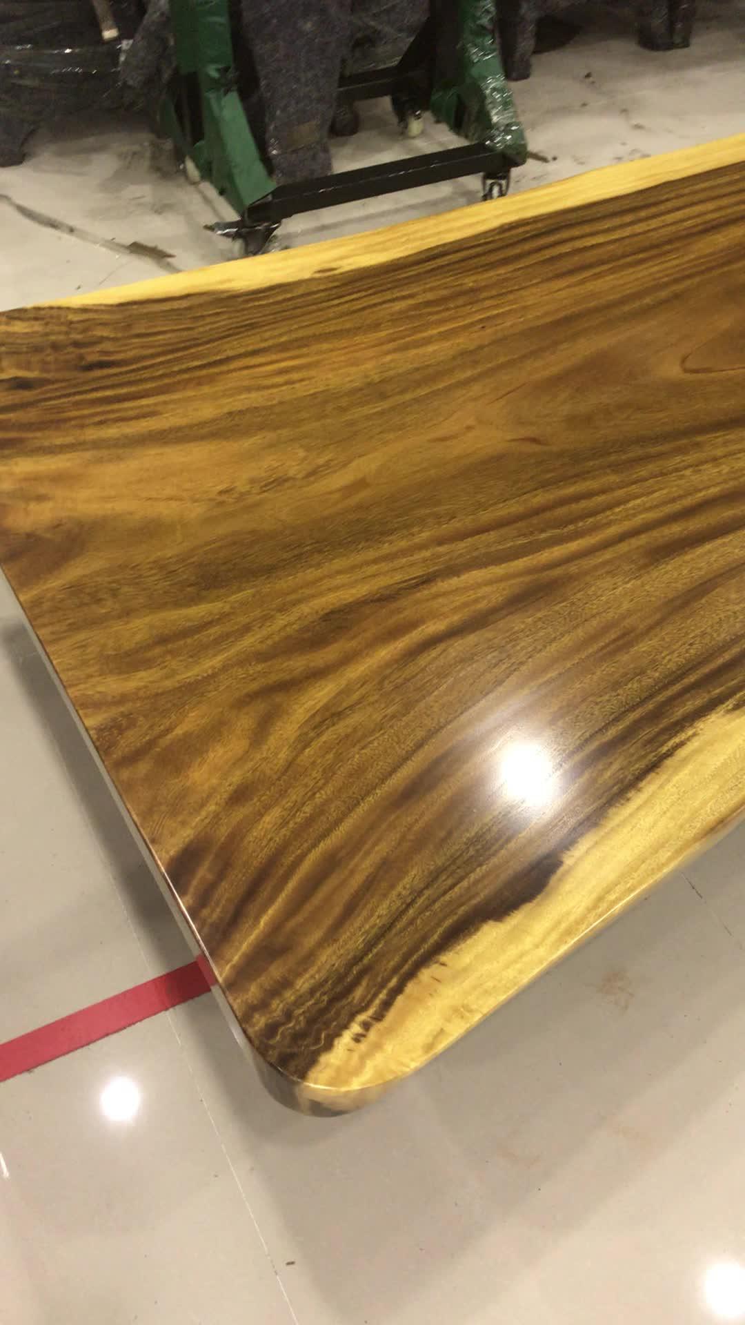 Live rand industrielle holz platte/acacia holz platte tisch top