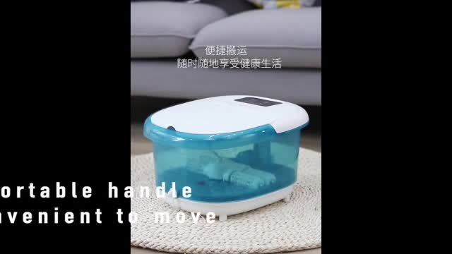 Multifunction Electric Pedicure Bath Spa Steam Therapy Chinese Portable Foot Care Massage Machine