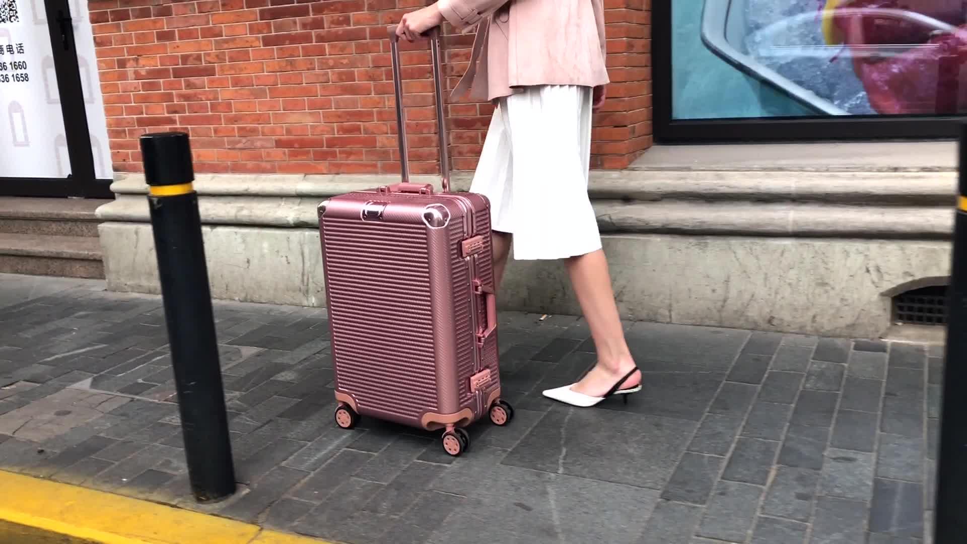 Multi-Farbe Optional Aluminium Koffer Mit Trolley Super Licht Bernstein Koffer