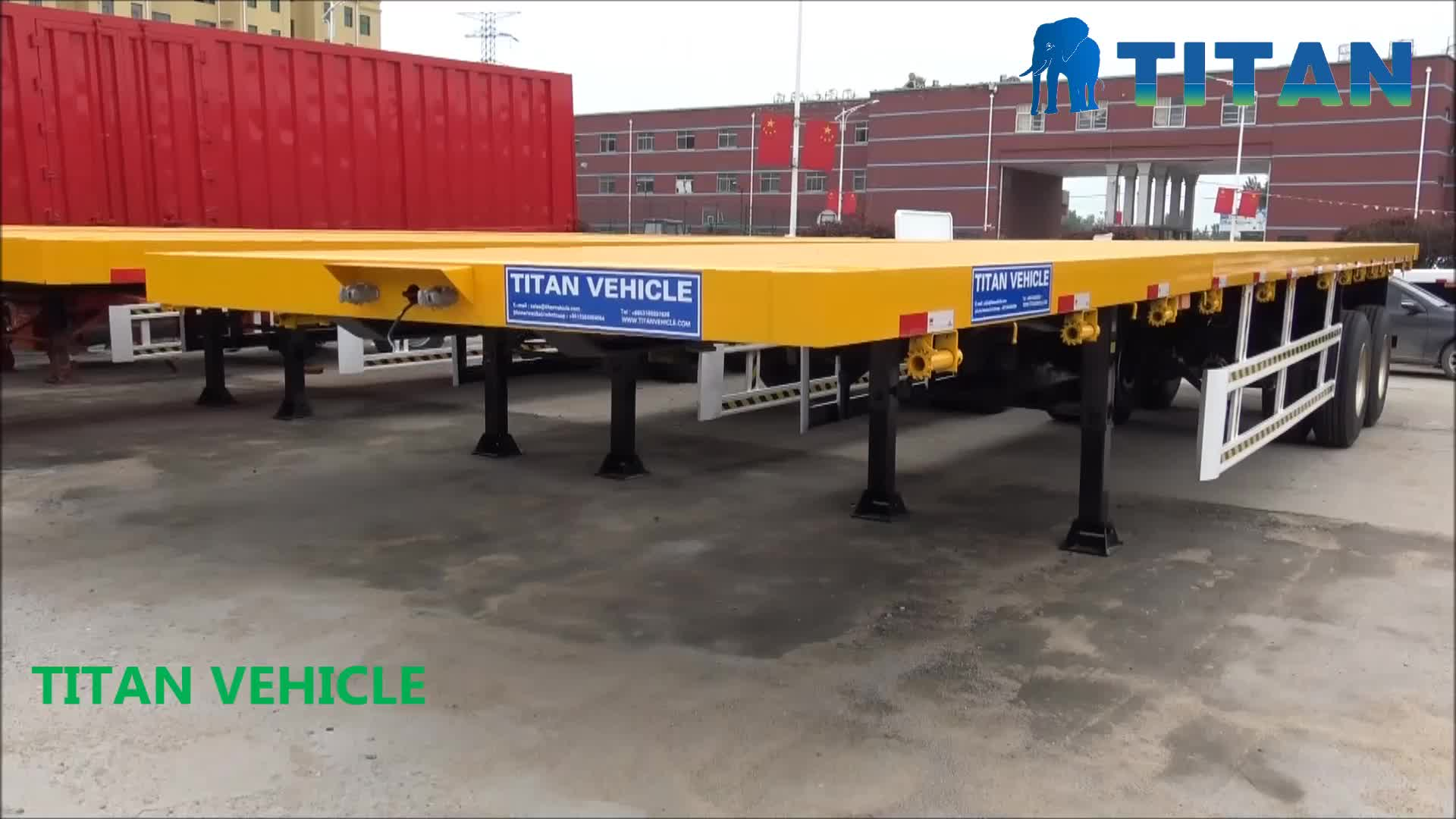 Customized 20ft 2 axle flatbed semi trailer for sale