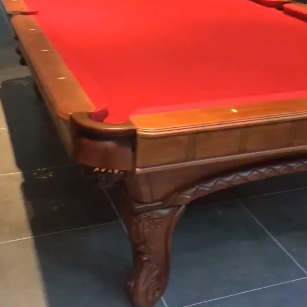 Innen und außen geschnitzt billardtisch 9ft für verkauf