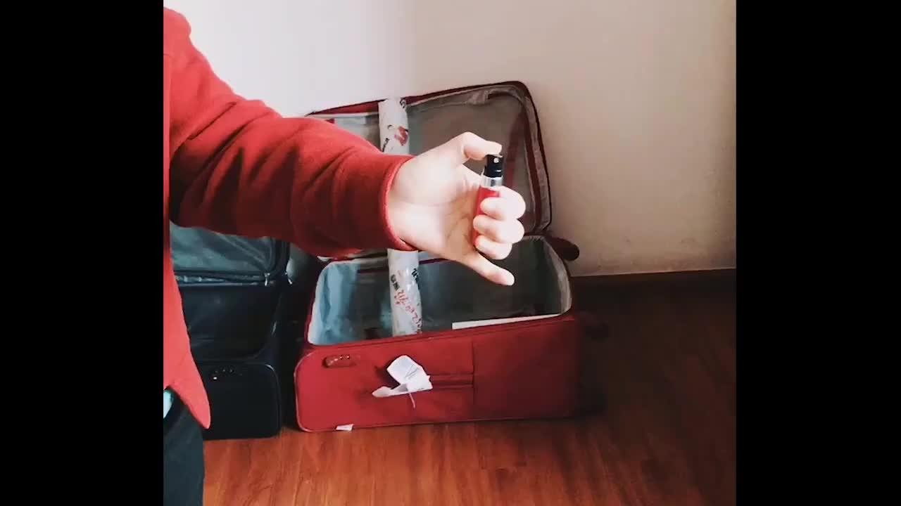 Pulverizador da pena de perfume do bolso do sanitizer 5ml da mão mini, garrafa de alumínio do pulverizador de perfume da forma da pena de 8ml 10ml