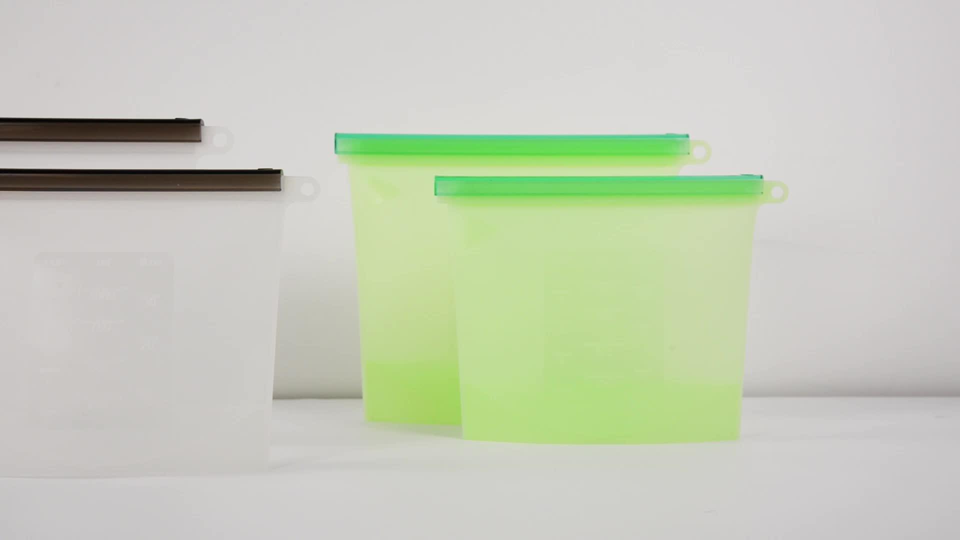 YTBagmart Hot Sale ZipLock Seal Food Grade Sandwich Preservation Vacuum Reusable Silicone Food Storage Bag