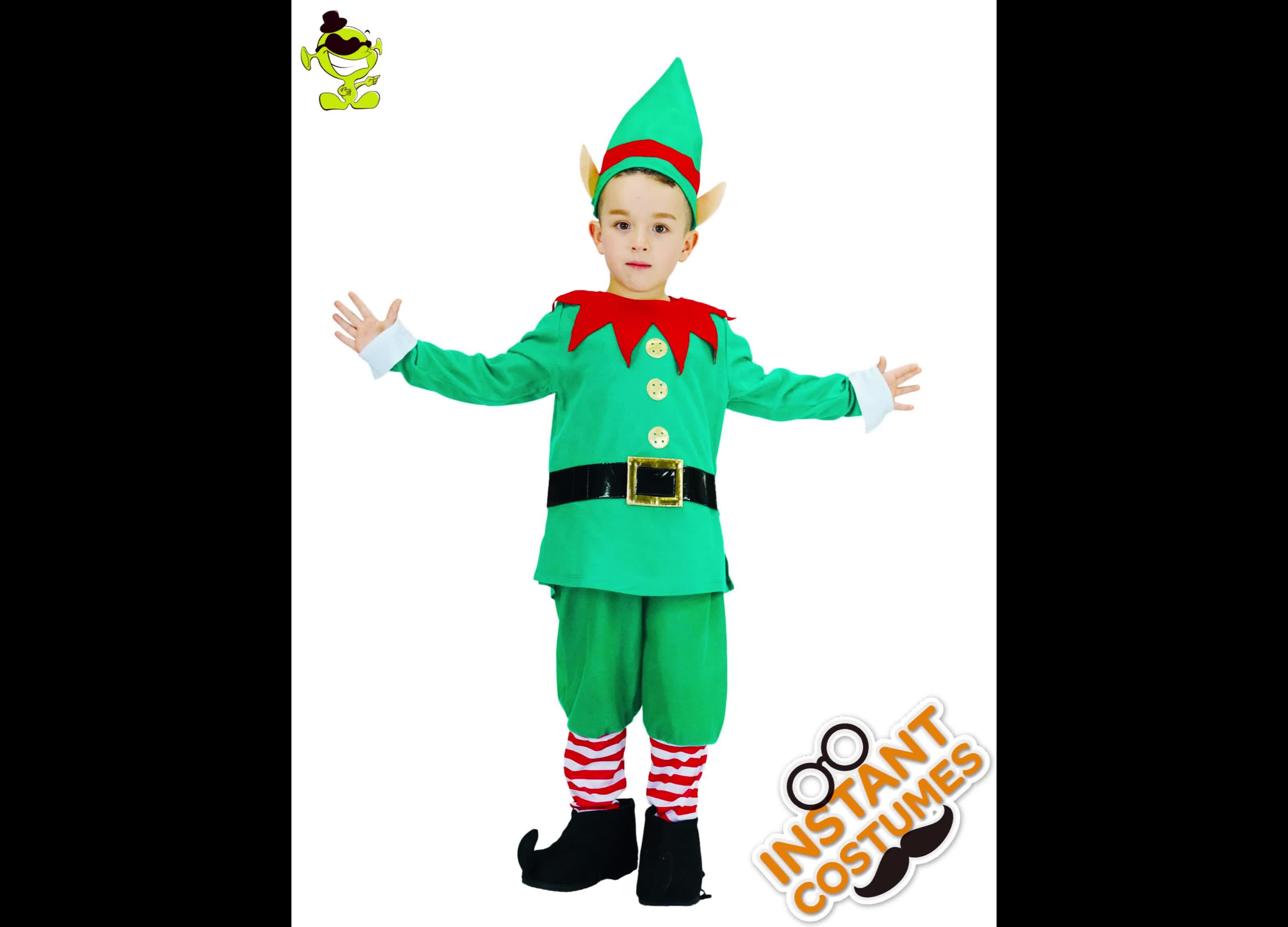 をパーティー工場直接かわいい子供クリスマスエルフ衣装
