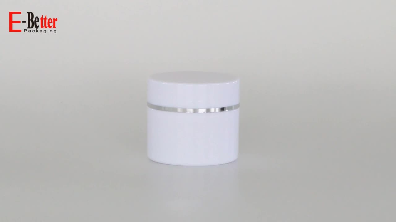 30ML white cosmetic double wall PP cream jars