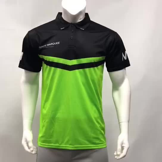 Healong High Quality Sublimated Breathable Wholesale Fashion Sport Clothing Polo Custom Mens Polo T Shirt