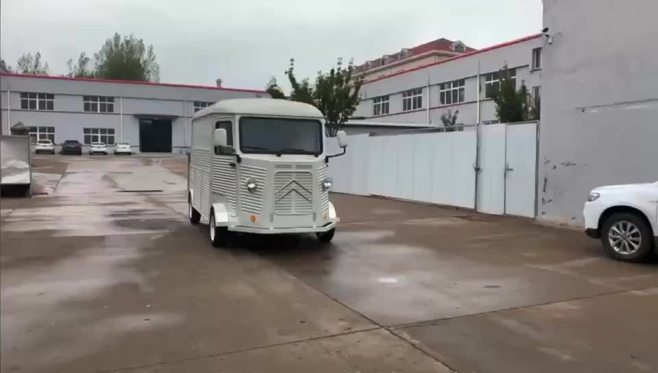 Customized retro Citroen HY food trailer  for outdoor mobile kitchen
