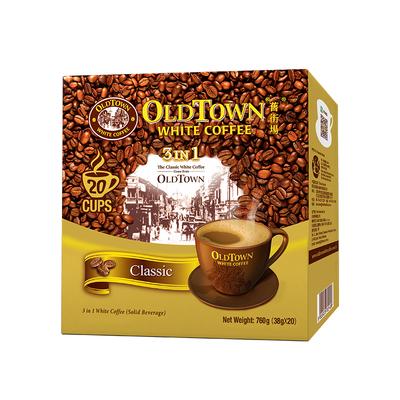 【进口】马来西亚旧街场白咖啡原味20条760g×1盒3合1醇正口感