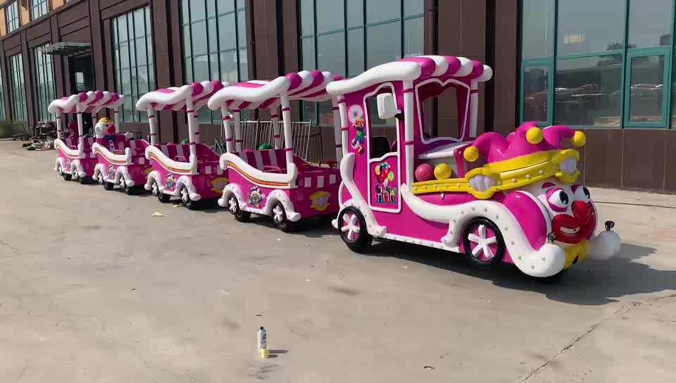 Yimiao Supplier Battery Outdoor Trackless Tour Train