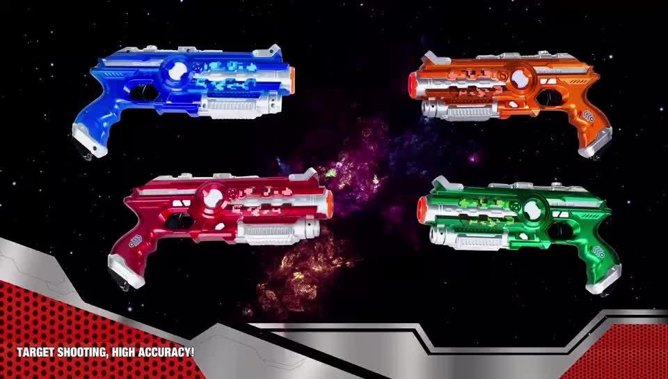 Erkek hediye elektrikli ses kızılötesi oyuncak huanuo lazer silahi oyun lazer ve ışık ile