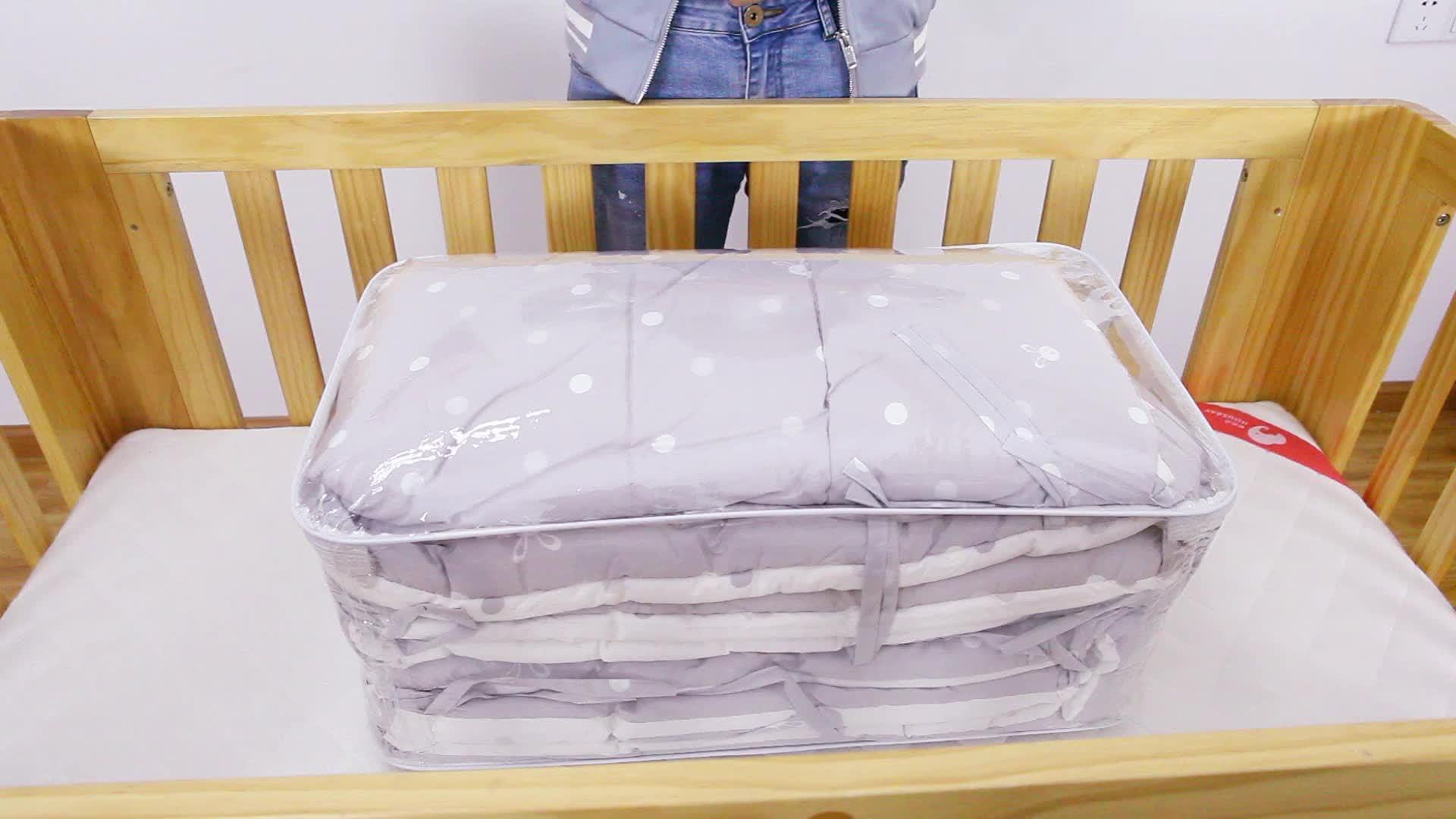 Housbay Reaktif Dicetak 100% Cotton 4 Pcs Bayi Set Tempat Tidur Kartun Tempat Tidur Bayi Set Tempat Tidur dengan Crib Bumper untuk Spring Full dan Musim Dingin
